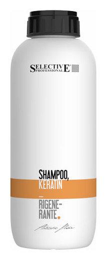"""Шампунь кератиновый """"Shampoo Keratin Rigenerante""""  Selective Professional"""