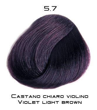 Тон 5.7 Светло-каштановый фиолетовый  Selective Professional