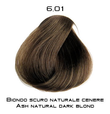 Тон 6.01 Блондин натурально-пепельный  Selective Professional