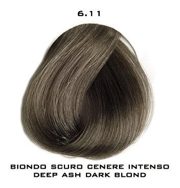 Тон 6.11 Темный блондин пепельный интенсивный  Selective Professional