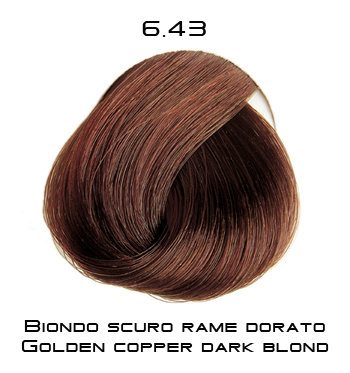 Тон 6.43 Темный блондин медно-золотистый  Selective Professional