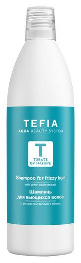 Шампунь для вьющихся волос с экстрактом зеленого яблока Tefia Treats by nature