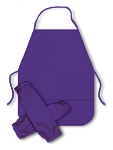 Фартук и нарукавники для труда, цвет: фиолетовый  Пчелка