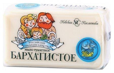 Мыло туалетное Бархатистое Невская косметика Традиционное мыло