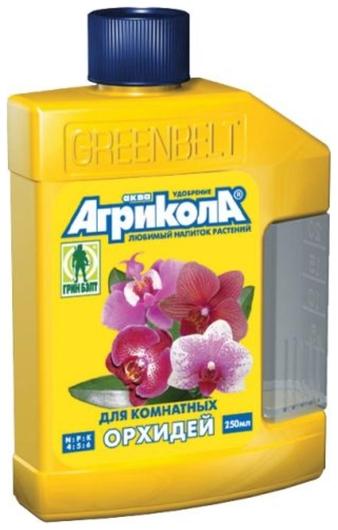 Жидкое удобрение Аква, для комнатных орхидей, 250 мл Green Belt