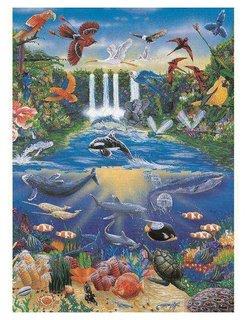 "Бумага для декупажа ""Ocean Jungle"", 210х297 мм  Рукоделие"