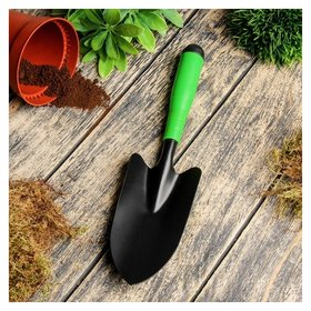 Совок посадочный, длина 33 см, ширина 11 см, пластиковая ручка  Greengo