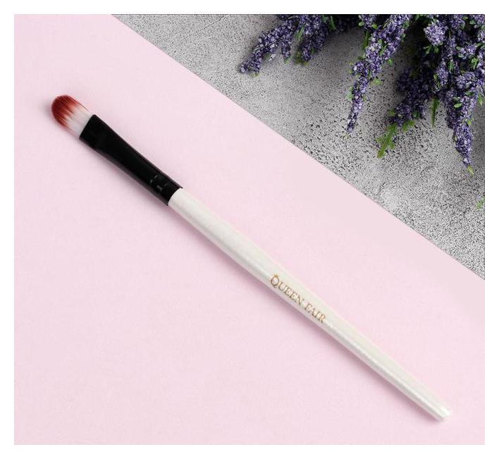 Кисть для макияжа, 13 см, цвет белый  Queen Fair