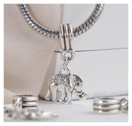 """Подвеска """"Слон"""" индийский, цвет серебро  Queen Fair"""
