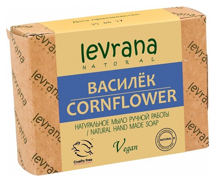 Натуральное мыло ручной работы Василек  Levrana