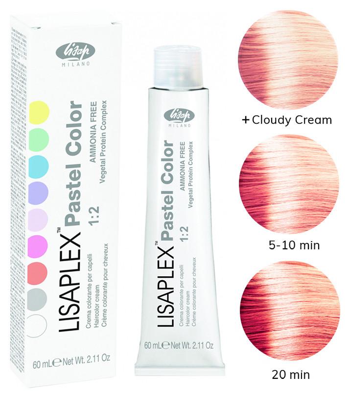 """Полуперманентная краска для волос пастельных тонов """"Pastel color"""" Тон Розовый апельсин"""