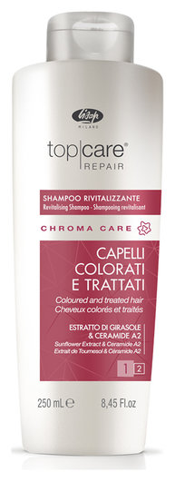 Оживляющий шампунь для окрашенных волос «Top care repair revitalizing shampoo»   Lisap Milano