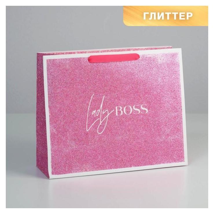 Пакет ламинированный горизонтальный Lady Boss, M 32 × 26 × 12 см  Дарите счастье
