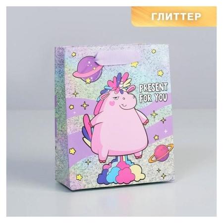 Пакет ламинированный вертикальный Present For You, S 12 × 15 × 6 см Дарите счастье