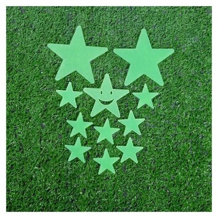 Набор светящегося декора Звёзды 12 шт., зелёный NNB