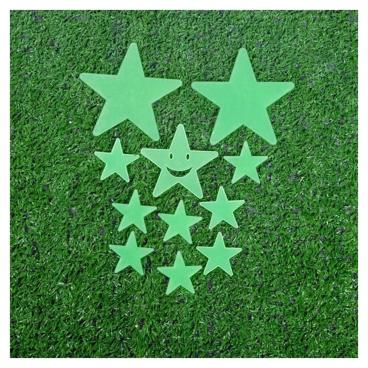 """Набор светящегося декора """"Звёзды"""" 12 шт., зелёный  NNB"""