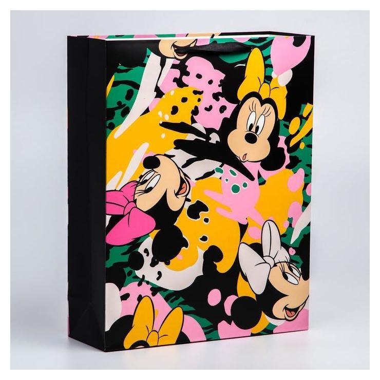Пакет ламинат вертикальный, 31х40х11 см, минни маус  Disney