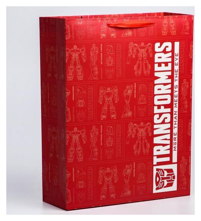 Пакет ламинат вертикальный, 31х40х11 см, Transformers  Hasbro