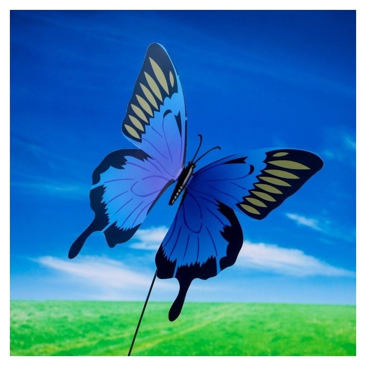 Декоративный штекер Бабочка махаон с блёстками NNB