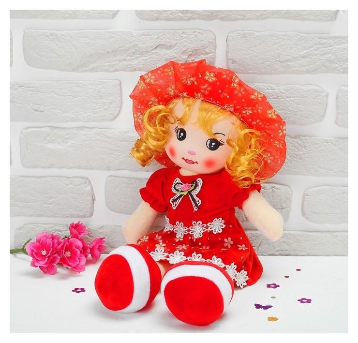 Мягкая кукла «Девчушка», юбочка в цветочек, 45 см NNB