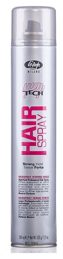 Купить Лак для волос Lisap Milano, Лак для укладки волос сильной фиксации «Hair spray strong hold», Италия