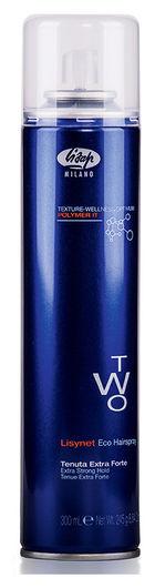"""Лак для укладки волос без газа экстра-сильной фиксации """"Two"""" Eco extra strong hold  Lisap Milano"""