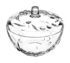 "Сахарница с крышкой ""Perla"", диаметр 140 мм, фактурное стекло  Pasabahce"