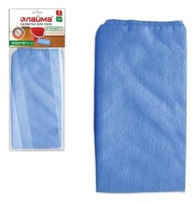 """Тряпка для мытья пола """"Стандарт"""", плотная микрофибра, 70х80 см, синяя  Лайма"""