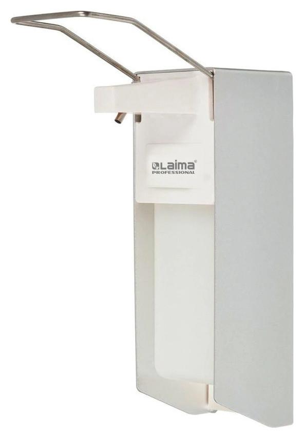 "Диспенсер для антисептика и жидкого мыла ""Лайма Professional"", наливной, локтевой, алюминий, 1 литр  Лайма"
