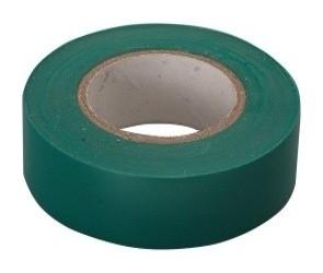 Изолента пвх, 15 мм, 10 м, зеленая  Сибртех