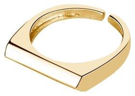 Кольцо безразмерное с позолотой  Grande Stella