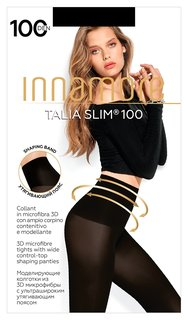 Колготки Innamore Talia Slim 100 Den утяжка, размер 2, Nero (Черный)  Innamore