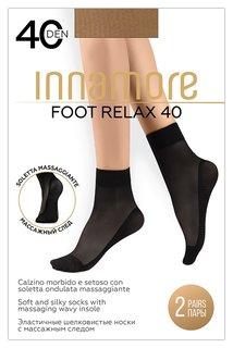 Носки капроновые Innamore Foot Relax 40 ден, Daino (Загар), 2 пары