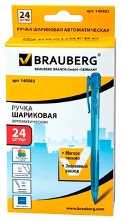 Ручка-автомат шариковая Brauberg Patrol синяя, толщина письма 0.7мм  Brauberg