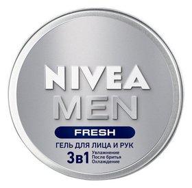 Гель для лица и рук 3в1 Увлажнение, охлаждение, после бритья Fresh Nivea