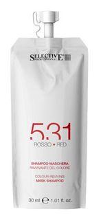"""Selective, шампунь-маска красный, для возобновления цвета волос """"531"""", 30 мл Selective Professional"""