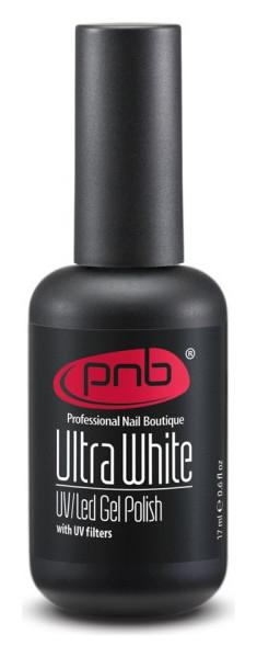Гель-лак для французского маникюра Ультравайт белее белого UV/LED UltraWhite  PNB