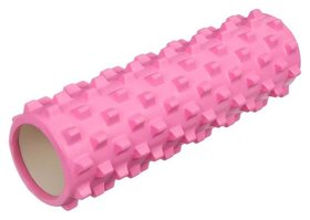 Роллер массажный для йоги 45 х 15 см, цвет розовый  Sangh