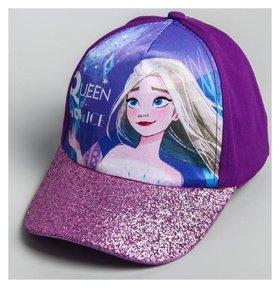 """Кепка детская """"Queen Of Snow & Ice"""" холодное сердце, р-р 52"""