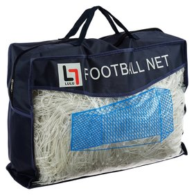 Сетка футбольная, 7,5 х 2,5 м, нить 3 мм, ячейка 135 х 135 мм, белая, набор 2 шт.