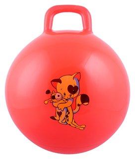 Мяч прыгун с ручкой «Девчонки и мальчишки», D=45 см, 350 г  NNB