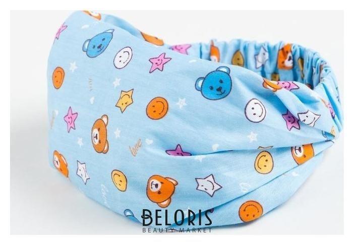 Косынка-повязка для девочки, цвет голубой, размер 48-52 Мегашапка