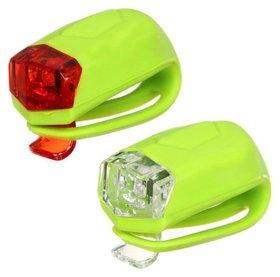 Комплект велосипедных фонарей Jy-267-d, 2 белых светодиода