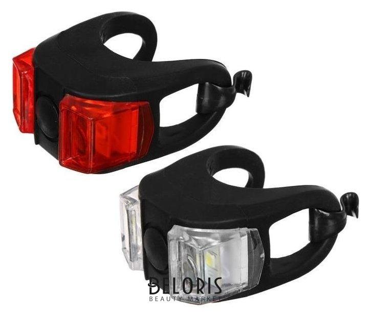 Комплект велосипедных фонарей Jy-267-6, 2 светодиода белый, красный NNB