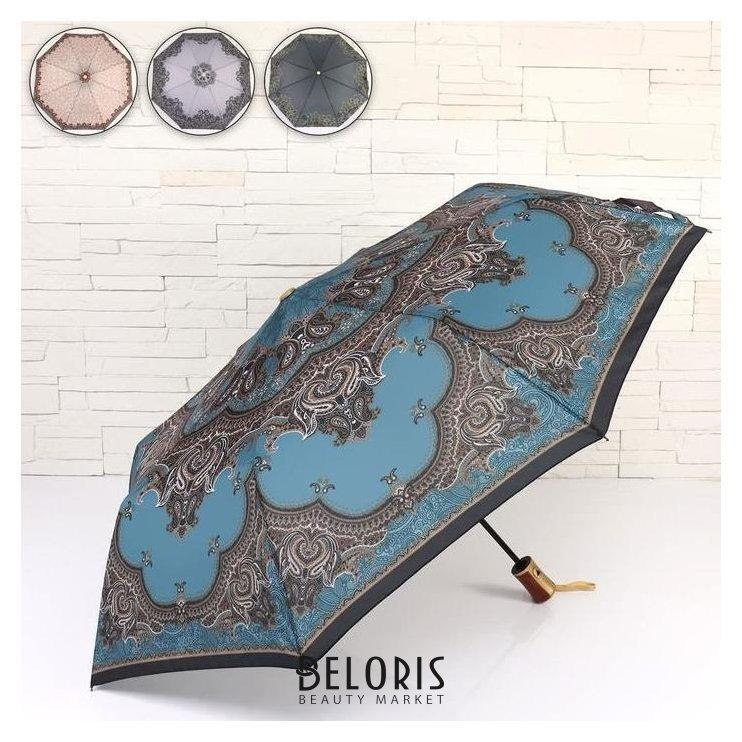 Зонт полуавтоматический «Цветочный узор», 3 сложения, 8 спиц, R = 47 см NNB