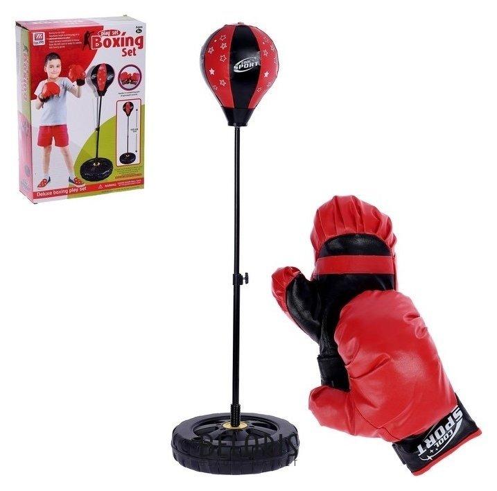 Набор для бокса «Профи»: напольная груша, перчатки NNB