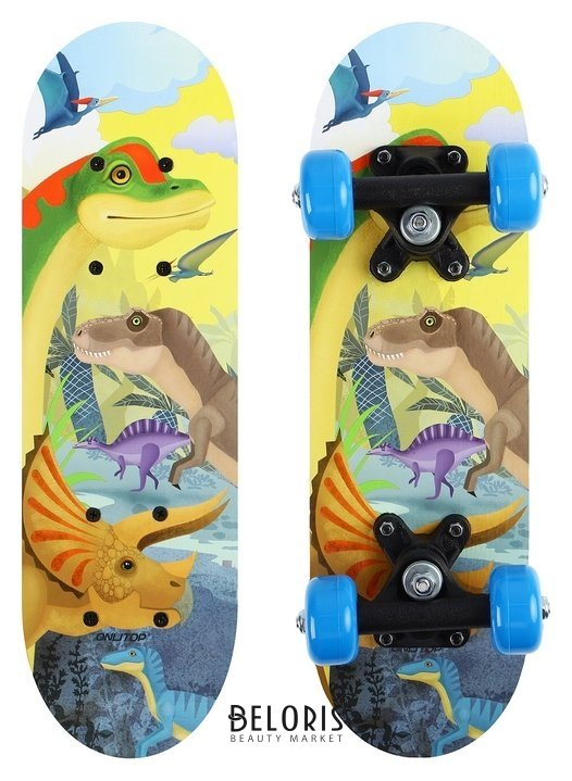 Скейтборд детский «Динозавры» 44х14 см, колёса PVC D=50 мм Onlitop