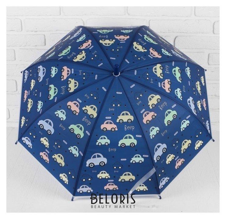 Зонт детский Траспорт 80*80*65 см D: 80 см, трость:65 см NNB