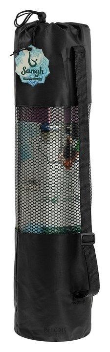 Чехол для йога-коврика 68 × 25 см (Для коврика толщиной до 8 мм), цвет чёрный Sangh