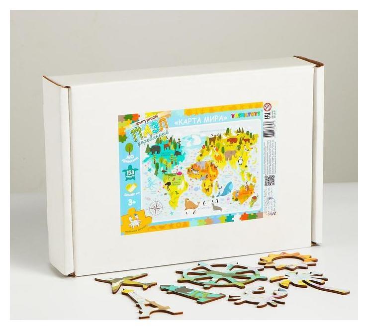 Конструктор - пазл «Карта мира» Yoshatoys